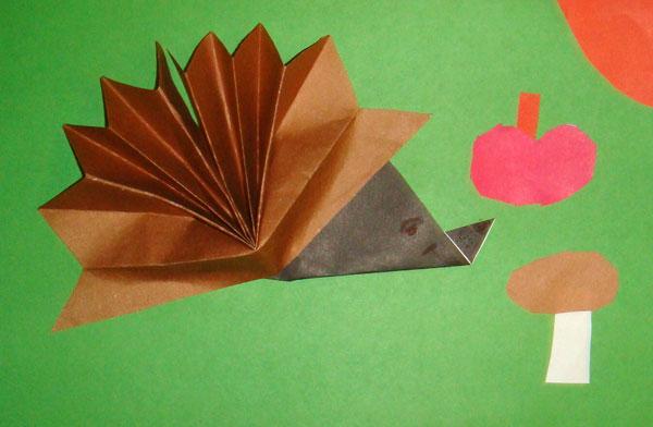 Поделки оригами ежики 34