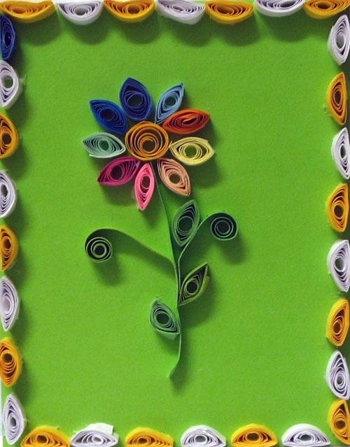 Квиллинг легкие поделки цветы 33
